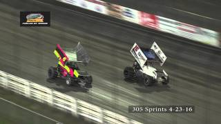 Knoxville Raceway 305 Highlights April 23, 2016