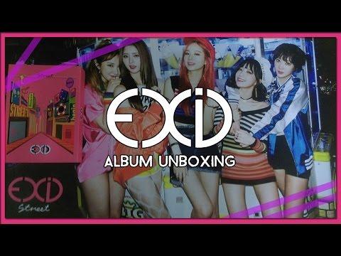 Unboxing EXID 1st Studio Album Street (Album + Poster + Card) (видео)