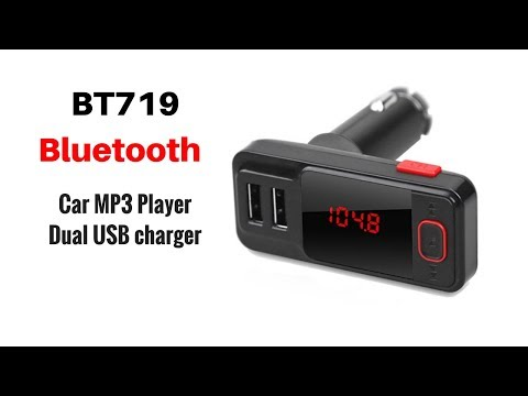 BT719 Bluetooth Dual USB Car Charger MP3 Player - Unboxing