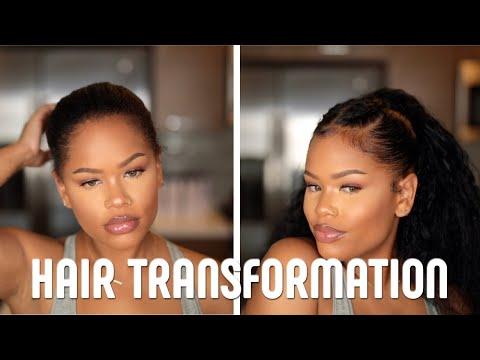 Short hair styles - SHORT HAIR TRANSFORMATION  How To: High Ponytail with Braids  Asteria Hair Aliexpress