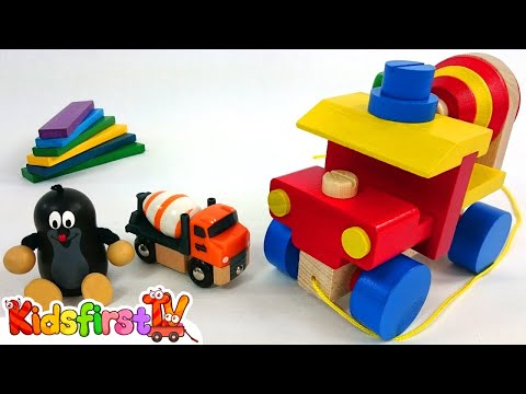 Games for kids with wooden toys. Videos for kids.