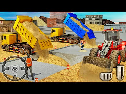 City Construction Simulator 2018 - Backhoe Loading Sand Into Dump Truck - Android Gameplay