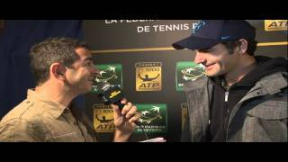 Interview with Federer at Paris Bercy 2011.