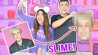 PANCAKE ART SLIME CHALLENGE | Drawing Jake Paul with slime | Slimeatory #64