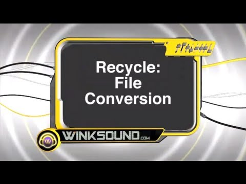Propellerheads Recycle: File Conversions | WinkSound