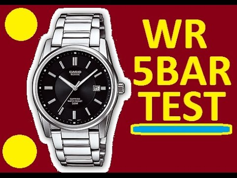 Water Resistant 5 bar Casio Beside BEM-111D watches | Test at home