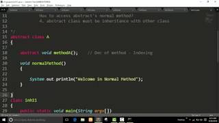 Abstract Class And Method : Java Programs