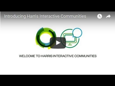Introducing Harris Interactive Communities