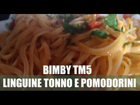 ricetta bimby: linguine tonno e pomodorini