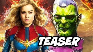 Captain Marvel Teaser - Official First Look and Story Explained