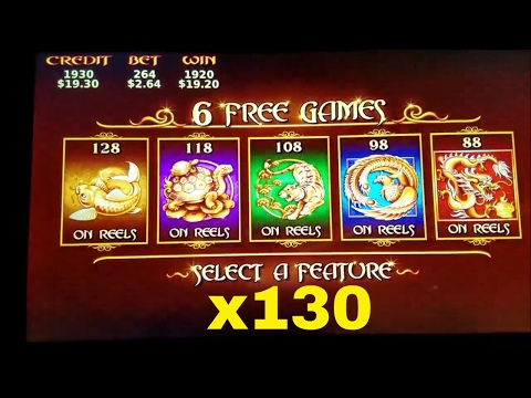 5 Treasures Slot Machine Bonus Win and Nice Line Hit ! Live Play At Wynn Las Vegas