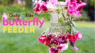 Learn how to make a simple Butterfly Feeder from a recycled plastic bottle.  For the full craft, click here: http://www.pbs.org/parents/crafts-for-kids/butterfly-feeder/Subscribe to PBS Parents on YouTube for new videos every Wednesday: http://www.youtube.com/subscription_c...Crafts for Kids is a weekly series that encourages parents and kids to spend time together making fun and simple projects. Brought to you by PBS Parents and Ana Dziengel of Babble Dabble Do. Music provided by APM.