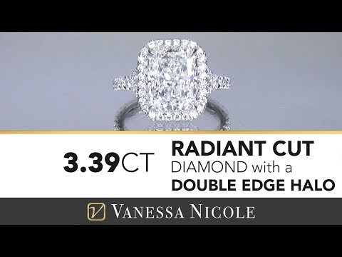 Radiant Cut Engagement Ring with a Double Edge Halo | Radiant Cut Diamond For Sheri