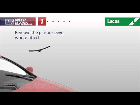 How To Fit Lucas Clearvision Type C - Yellow Coloured Box Top