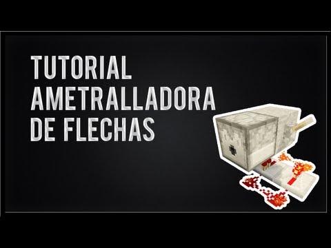 Minecraft - Ametralladora de flechas