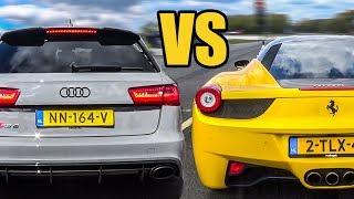 Audi RS6 C7 Vs Ferrari 458 Italia - Exhaust Sound & Accelerations!