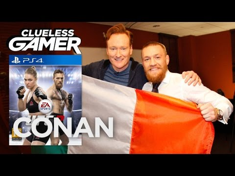 Conan O Brien Plays UFC 2 with UFC Champ Conor