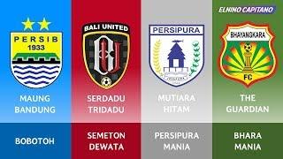 Video Julukan & Nama Suporter Klub Sepakbola di Liga 1 Indonesia Musim 2017/2018 ● Elnino Capitano MP3, 3GP, MP4, WEBM, AVI, FLV Oktober 2017