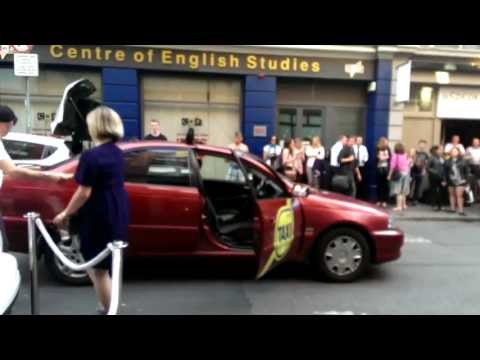 Taxi Driver Dances with Drunk Girl in the Street