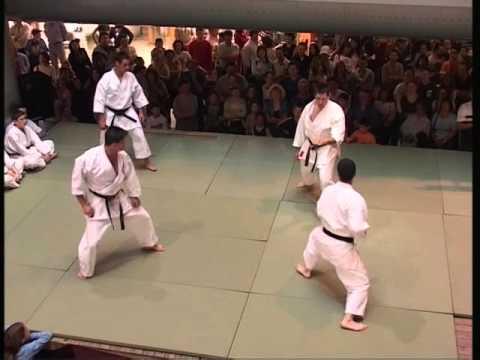 Karate Shotokan demonstração Diamantino Lobo, Luís Figueiral, Licínio Nunes e Adélio Santos