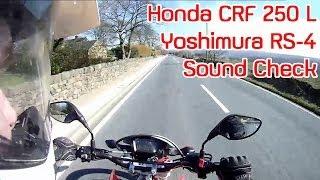 10. Yoshimura Exhaust Sound Honda CRF250L Dual Sport