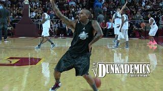 Chris Brown Gets BUCKETS + Dunks&Dancing @ Power106 Celeb Game