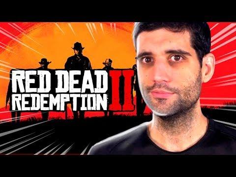 Primeiro GAMEPLAY de Red Dead Redemption 2, quase CHOREI gravando o video