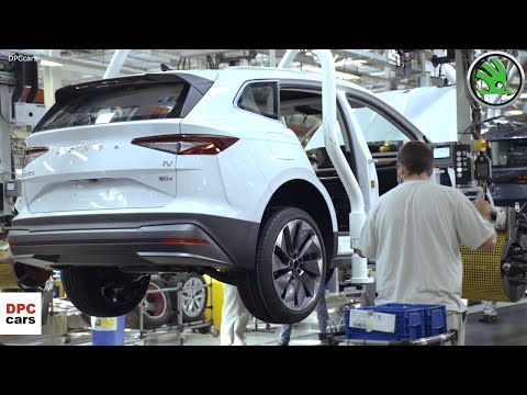 Skoda Production of the Electric ENYAQ iV Factory