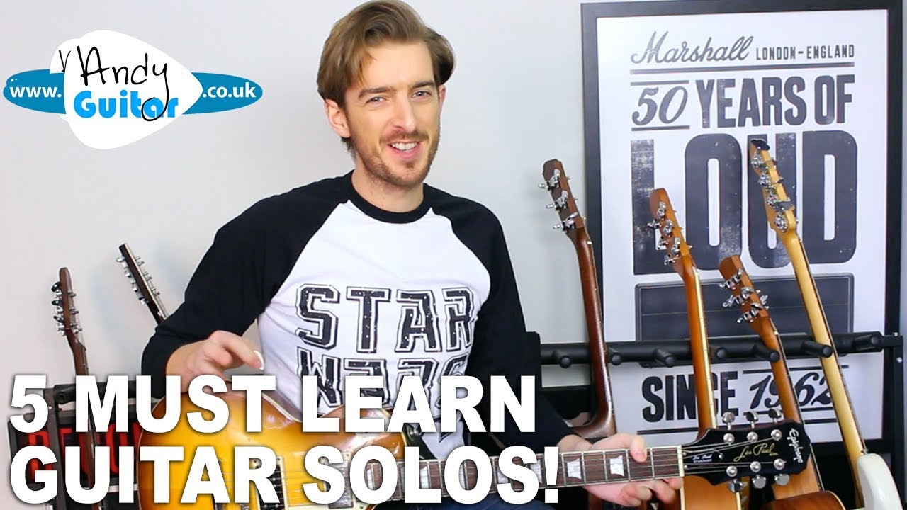 5 Must Know Guitar Solos (+ tutorials)