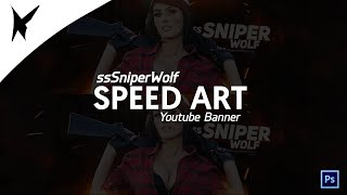 SniperWolf Youtube Banner - Surprise Speed Art - Designed By Keeuske