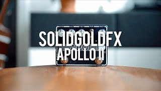 """My demo of the SolidGoldFX Apollo II!*this is a sponsored video*https://solidgoldfx.com/""""The Apollo II has landed! The Apollo II combines a lush, all-analog 4-stage phaser circuit with our exclusive tap tempo microprocessor. We have spent countless hours expanding on the functionality and sound of the previous generation Apollo. The Apollo II now has a variety of distinct waveforms accessible via an 11-position detent control which can be used in conjunction with 3 different rhythmic patterns providing a vast array of unique phasing options. Waveforms include more conventional sine and triangle based shapes in addition to step phasers, combined settings, randomizer and manual phase control. Adjustable depth and regen controls, coupled with an expression pedal input for speed and manual sweep complete the package while Custom Shop Midnight Sapphire finish and elegant graphic take the Apollo II to the next level.""""Guitar: Gibson CS R4Amp. Tone King 20th Anniversary ImperialCables: Toaster Cables - http://www.toastercables.com/Patch cables: Mulder Audio - http://www.mulderaudio.com/Contact: livingroomgear@gmail.comhttps://www.facebook.com/livingroomgearhttps://twitter.com/livingroomgearhttp://instagram.com/livingroomgearhttp://ask.fm/livingroomgearhttp://livingroomgeardemos.tumblr.com"""