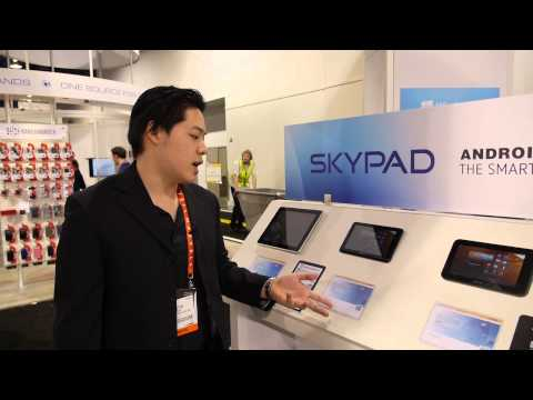 Skytex Skypad tablets at CES 2013