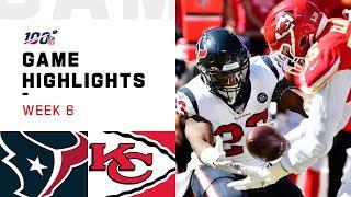 Texans vs. Chiefs Week 6 Highlights   NFL 2019