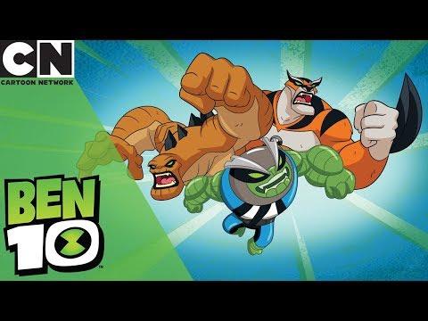 Ben 10 Slapback Humungosaur And Rath Transformations Cartoon Network
