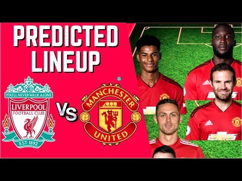 PREDICTED LINEUP - LIVERPOOL VS MANCHESTER UNITED - PREMIER LEAGUE 2018/19!