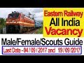 Eastern Railway  All India Vacancy Group C  D  Malefemale Scouts Guide Latest Govt Job waptubes