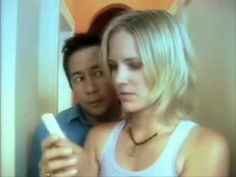 Blonde Girl Pregnancy Test Funny Ad