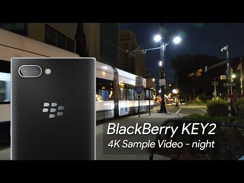 BlackBerry KEY2 4K Sample Video - nighttime