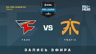 FaZe vs Fnatic - ESL Pro League S6 Finals - map2 - de_overpass [CrystalMay, ceh9]