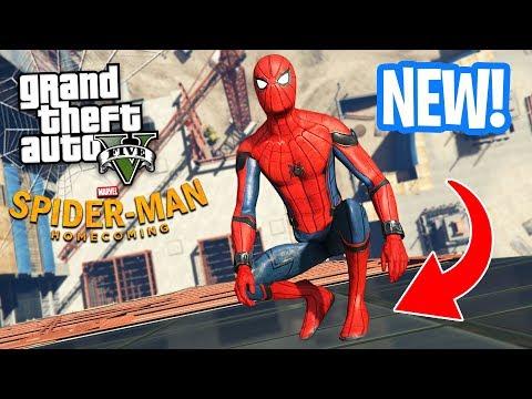ULTIMATE SPIDERMAN MOD!! (GTA 5 Mods) (видео)