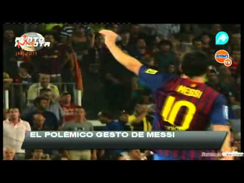 Messi provoca torcida do Real Madrid (видео)