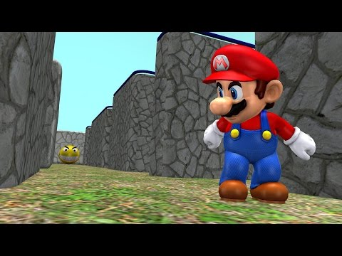 Pacman vs Super Mario (видео)