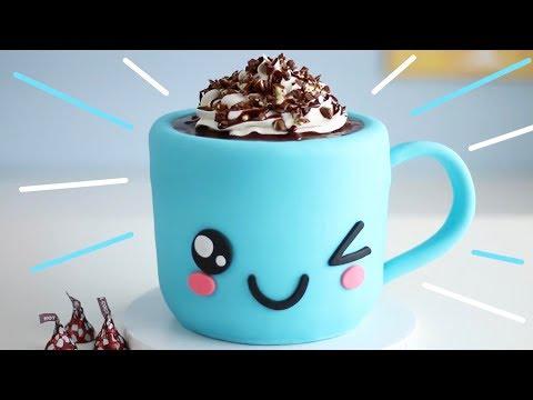 Cute Hot Chocolate Cake