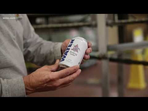 Anheuser-Busch canning drinking water for Hurricane Florence