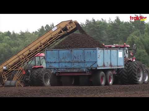 Här bärgas torv - Peat harvesting