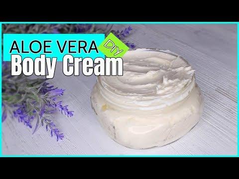 DIY Organic Aloe Vera Body Cream