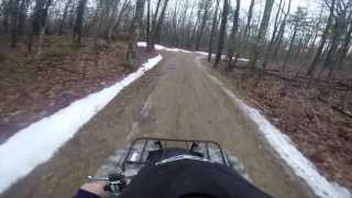 7. 2014 Yamaha Grizzly 550 Go Pro First ride