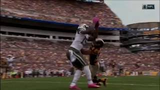 Brandon Marshall Makes Amazing Juggling Catch Over Defender! | Jets vs. Steelers | NFL by NFL