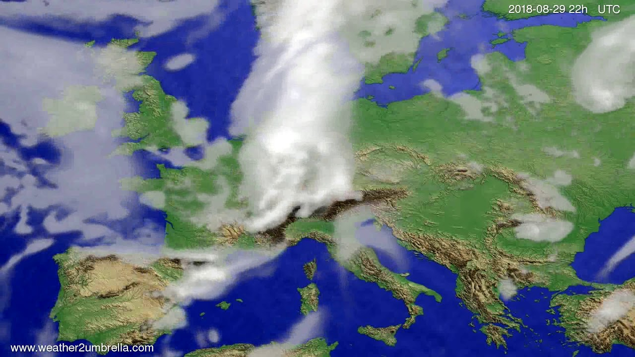 Cloud forecast Europe 2018-08-27