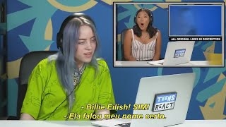 Reação da Billie Eilish  ao assistir